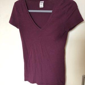Victoria's Secret PINK V-neck purple shirt. Size S